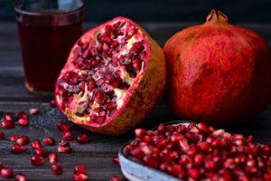 pomegranate, fruit, bowl